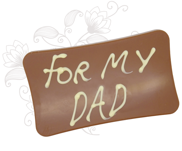 Fathers Day Chocolate Plaque