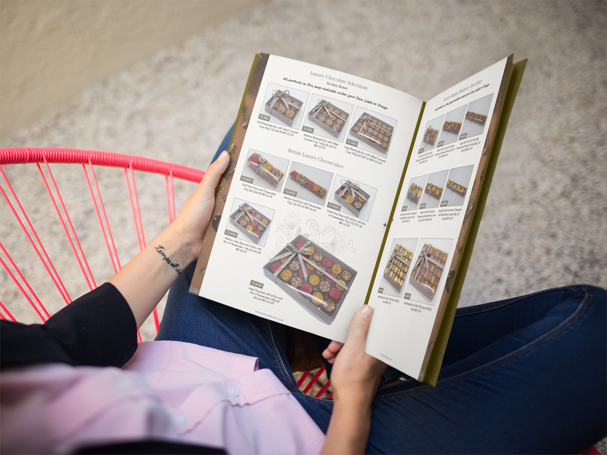 catalog-being-read-by-a-girl-while-sitting-down